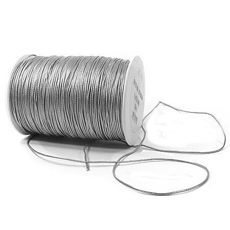 ElastiK-Kordel Premium, silber: 2mm breit / 250 Meter