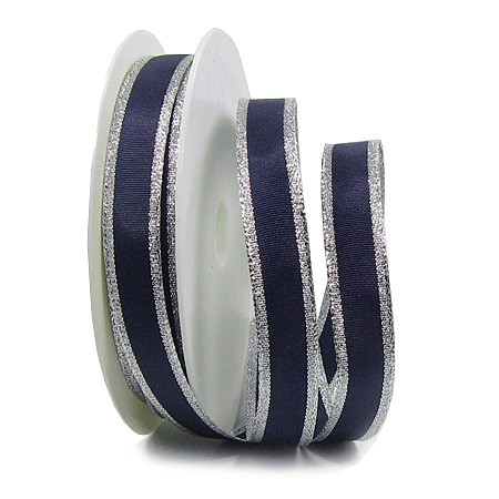 Classic, dunkelblau-silber: 15mm breit / 25m-Rolle