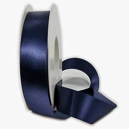 Satinband SATINA: 25 mm breit, 50 Meter, nachtblau