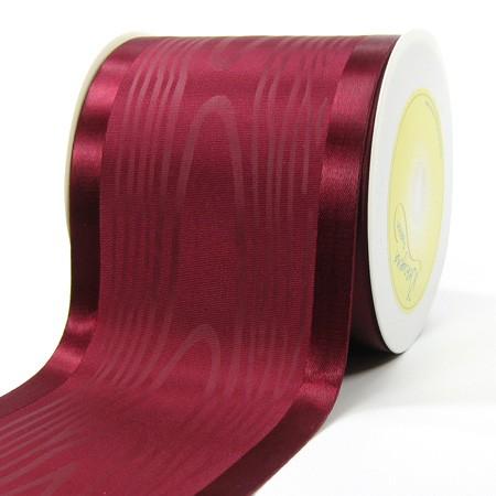 Satinband-Tischband Luxury: 100 mm breit / 20 m-Rolle, bordeaux.