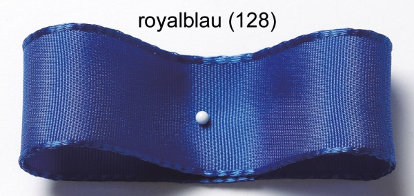 Drahtkantenband: 25mm breit / 25m-Rolle, royalblau