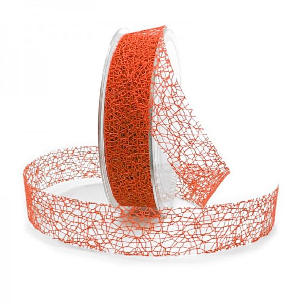 Netzband, orange: 25mm breit / 20m-Rolle