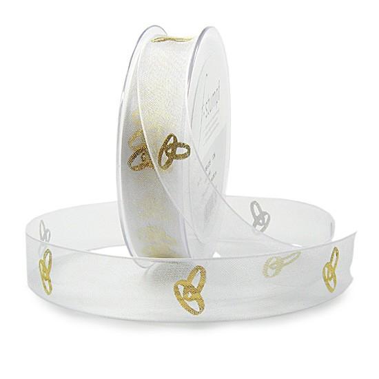 Hochzeitsband-EHERINGE, gold: 25mm breit / 20m-Rolle