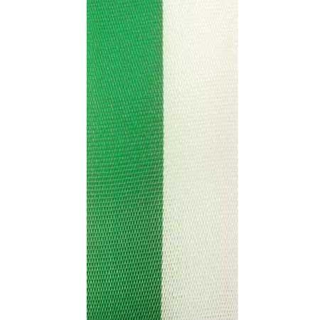 Vereinsband Schützenband, grün-weiss, 150mm breit / 25m-Rolle