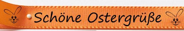 Schöne Ostergrüße gelb: 15mm breit / 25m-Rolle
