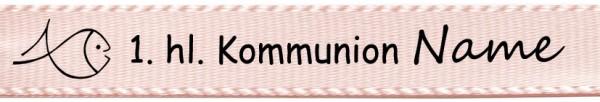 Beispiel Kommunionsband, hellrosa: 15mm breit / 25m-Rolle