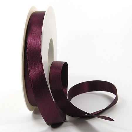 Satinband-SINFINITY, aubergine: 15mm breit / 25m-Rolle, mit feiner Webkante