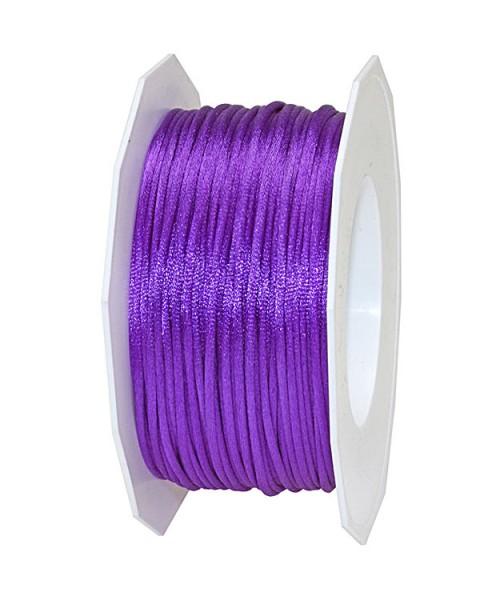 Satinkordel-RHEIN, lila-violett: 3 mm breit - 50-Meter-Rolle
