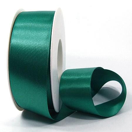 Satinband SINFINITY, petrol: 38mm breit / 25m-Rolle, mit feiner Webkante.