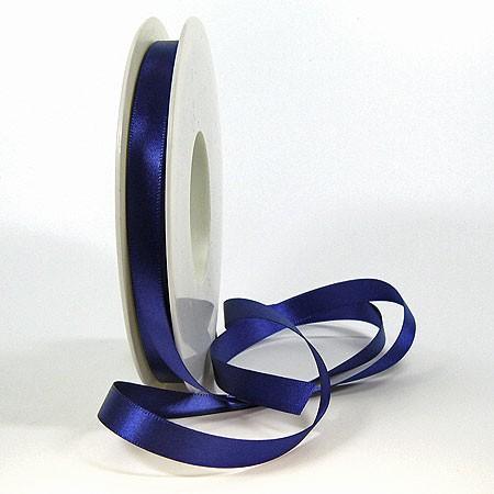 Satinband-SINFINITY, marineblau: 10 mm breit / 25 Meter, mit feiner Webkante.