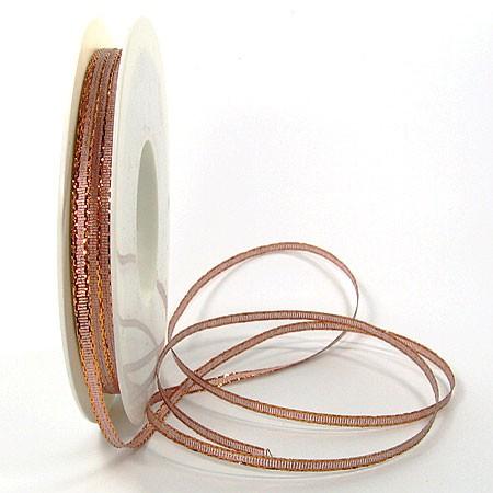 Brokatband-SINFINITY: 3mm breit / 50m-Rolle, kupfer