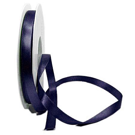 Satinband SINFINITY, nachtblau: 10mm breit / 25m-Rolle, mit feiner Webkante.