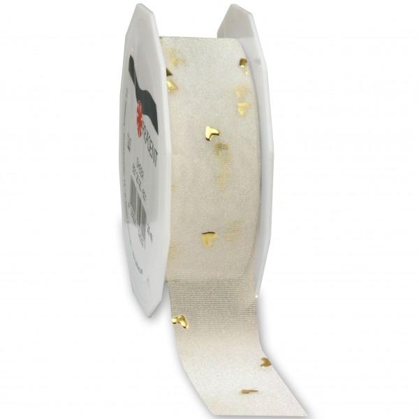 Hochzeitsband-CASANOVA, gold: 25mm breit / 20m-Rolle
