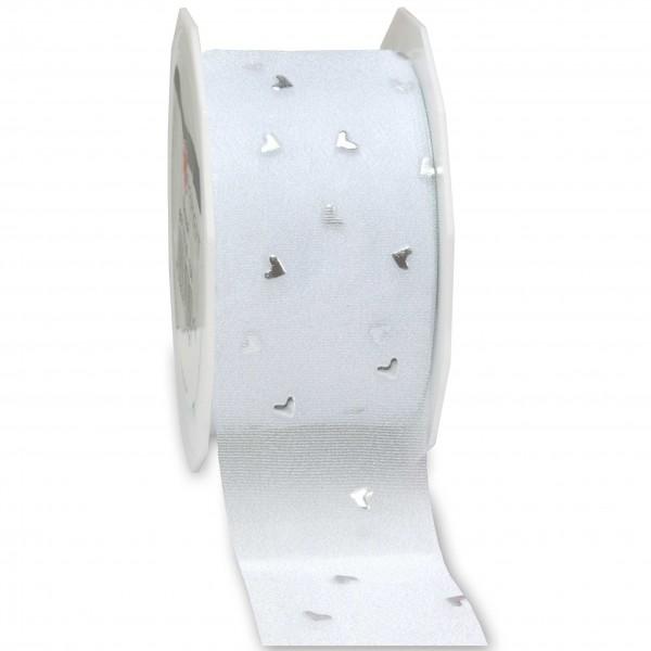 Hochzeitsband-CASANOVA, silber: 40mm breit / 20m-Rolle