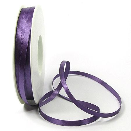 Satinband-SINFINITY, lila: 6mm breit / 50m-Rolle, mit feiner Webkante
