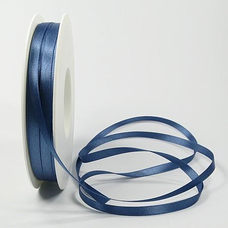 Satinband-SINFINITY, aquablau: 6mm breit / 50m-Rolle, mit feiner Webkante