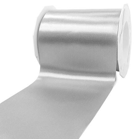 Satinband-ADRIA, Tischband: 112 mm breit / 25-Meter-Rolle, silber-grau