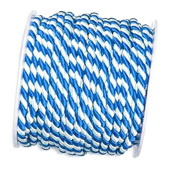 Kordel, blau-weiß: 6mm breit / 25m-Rolle