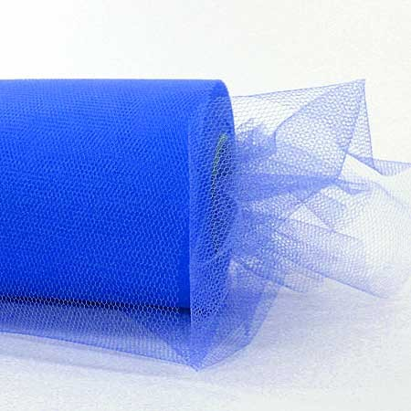 Tüllband, 100mm breit / 50m-Rolle, blau