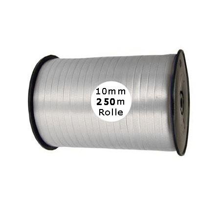 Ringelband: 10mm breit / 250m-Rolle, silber
