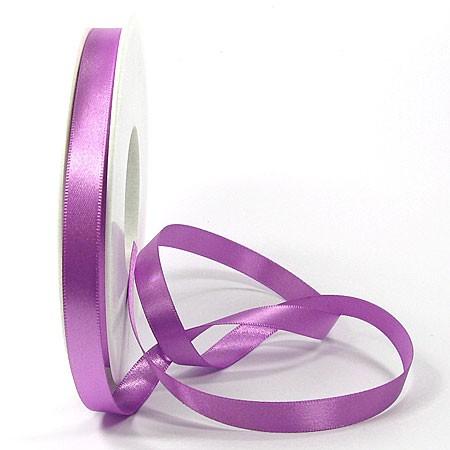 Satinband-SINFINITY, lavendel: 10 mm breit / 25 Meter, mit feiner Webkante.