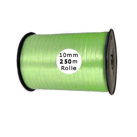 Ringelband: 10mm breit / 250m-Rolle, lindgrün