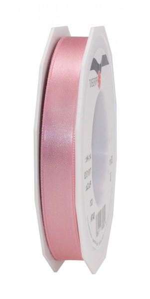 Satinband-PRÄSENT, altrosa: 15mm breit / 25m-Rolle, mit feiner Webkante.