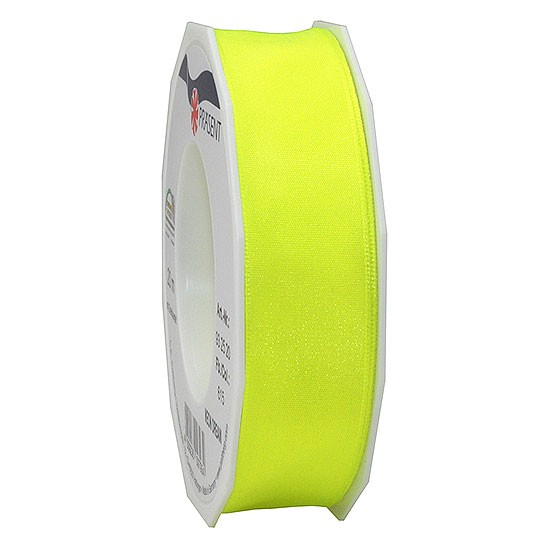 DREAM-Drahtkantenband: 25mm breit / 20m-Rolle, Neon-gelb