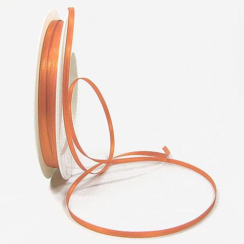 Satinband-SINFINITY, apricot: 3mm breit / 50m-Rolle, mit feiner Webkante