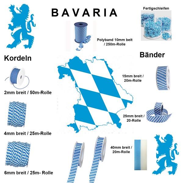 BAVARIA Kollektion: Bänder, Kordeln und Fertigschleifen