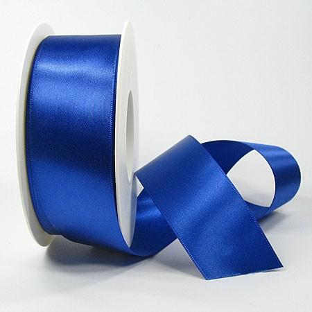 Satinband SINFINITY, royalblau: 38mm breit / 25m-Rolle, mit feiner Webkante.
