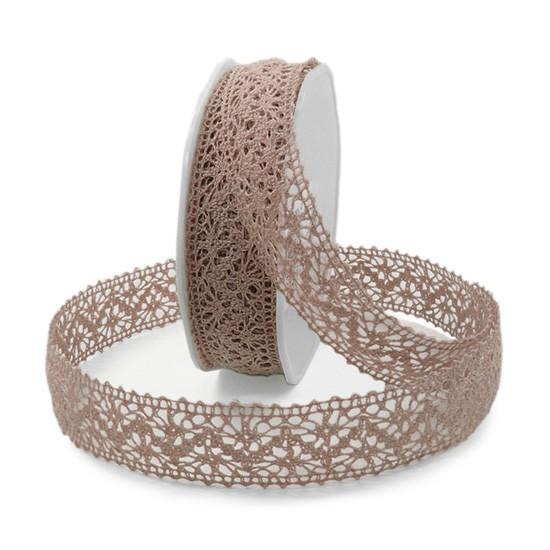 Häkelband, rosa: 22mm breit / 10m-Rolle