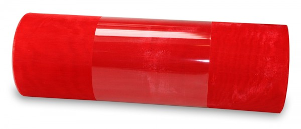 Organzaband: 280mm breit / 10m-Rolle, rot; 8ORG6065