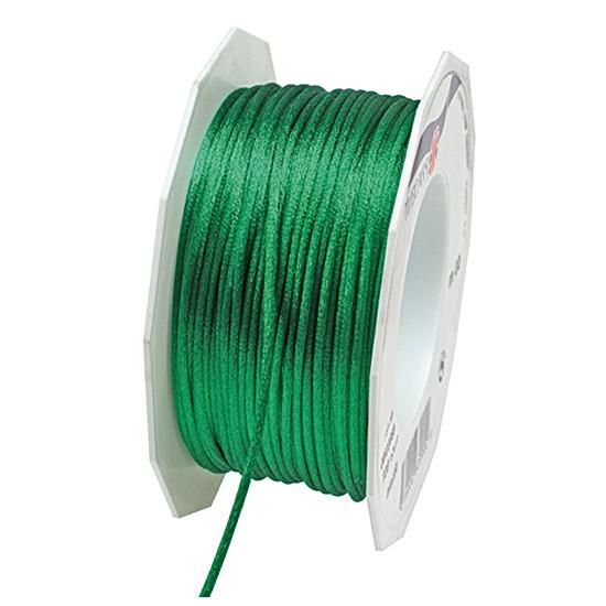 Satinkordel-RHEIN, apfelgrün: 3 mm breit - 50-Meter-Rolle