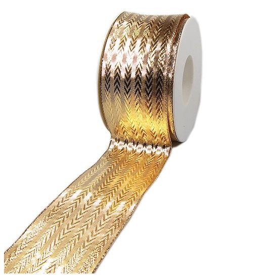 Goldband-STYL, 60mm breit / 25m-Rolle, mit Drahtkante
