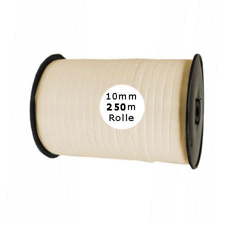 Ringelband: 10mm breit / 250m-Rolle, creme