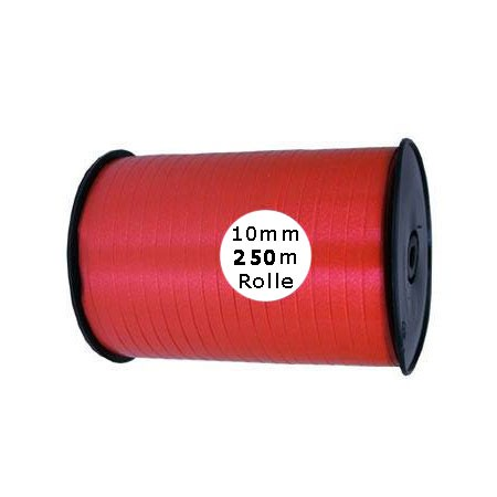 Ringelband: 10mm breit / 250m-Rolle, rot