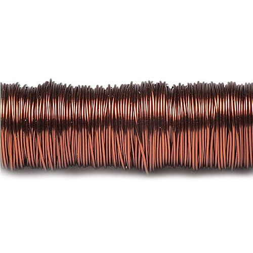 Decolackdraht, braun: 0,5mm Ø - 50m-SNAP-Spule = 100 gramm