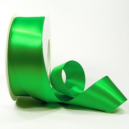 Satinband-SINFINITY, apfelgrün: 38mm breit / 25m-Rolle, mit feiner Webkante