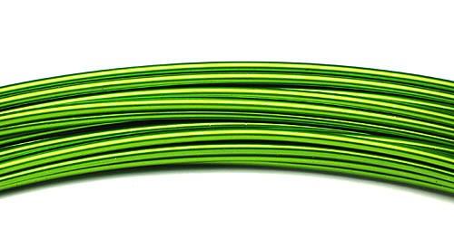 Aluminiumdraht: 2mm Ø - 3 Meter, apfelgrün