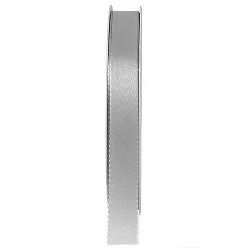 Taftband: 15mm breit / 50m-Rolle, grau.