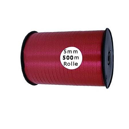 Ringelband: 5mm breit / 500m-Rolle, weinrot