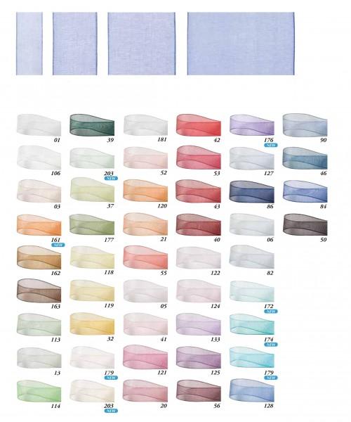 Organzaband: Breiten- und Farbenauswahl