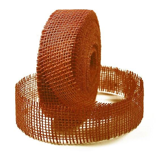 Juteband-Rupfenband: 40mm breit / 25m-Rollen.
