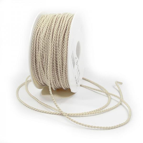 Kordel: 2mm breit / 50m-Rolle, creme