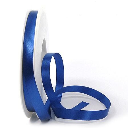 Satinband-SINFINITY, royalblau: 10 mm breit / 25 Meter, mit feiner Webkante.