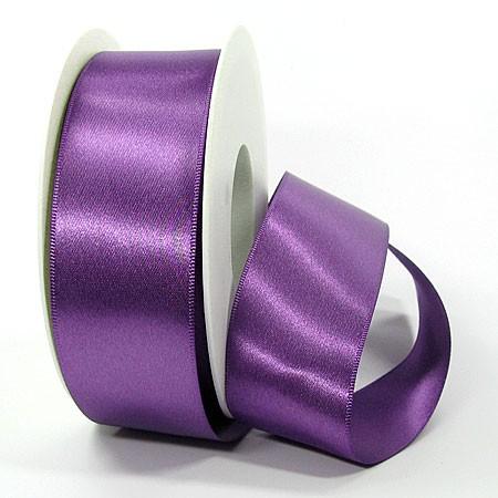 Satinband-SINFINITY, lila: 38mm breit / 25m-Rolle, mit feiner Webkante
