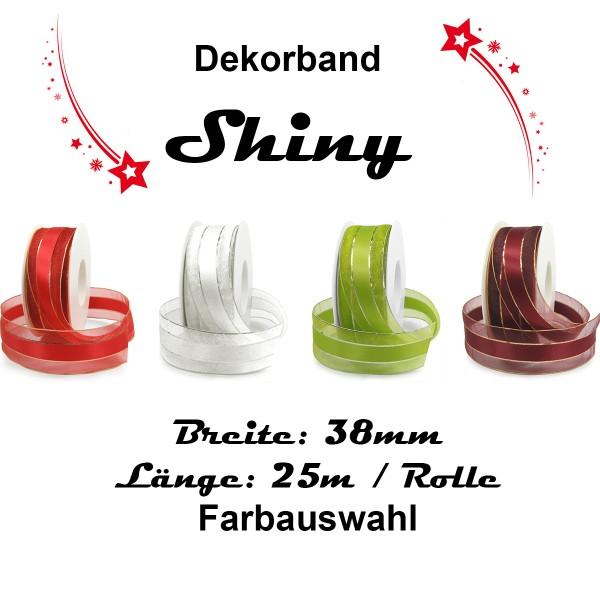 Dekorband Shiny, 38mm breit Farbauswahl
