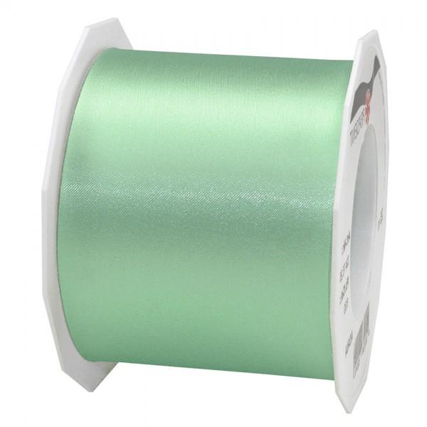 Satinband-Adria, Tischband: 72mm breit / 25m-Rolle, mintgrün.