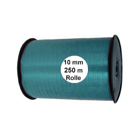 Ringelband: 10mm breit / 250m-Rolle, petrol.